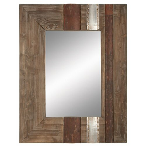 Aspire rustic wall mirror reviews wayfair for Rustic mirror