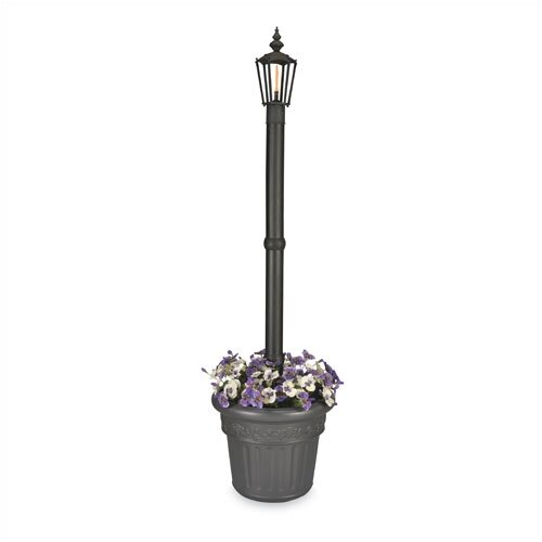 "Patio Living Concepts Newport 80"" Post Lantern Set with Planter"