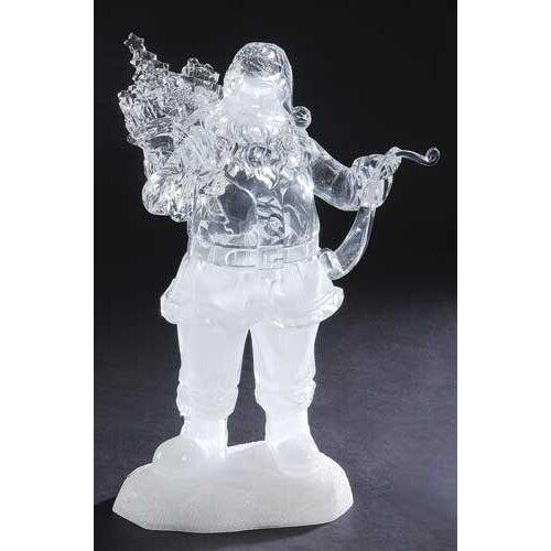 Mus LED Santa with List Figurine