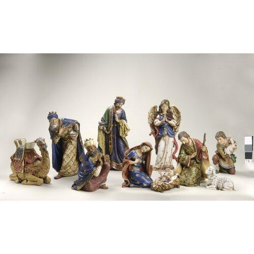 Roman, Inc. 10 Piece Nativity Figurine Set
