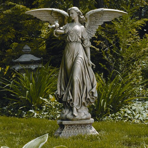 roman inc classic angel garden statue reviews wayfair. Black Bedroom Furniture Sets. Home Design Ideas