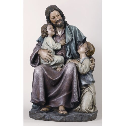 Roman, Inc. Jesus with Children Figurine