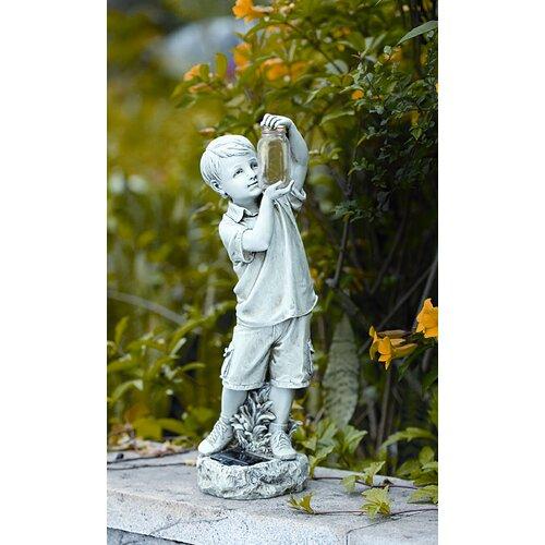 Roman, Inc. Solar Boy with Firefly Jar Statue