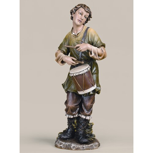 Roman, Inc. Joseph Studio Scale Colored Drummer Boy Figurine