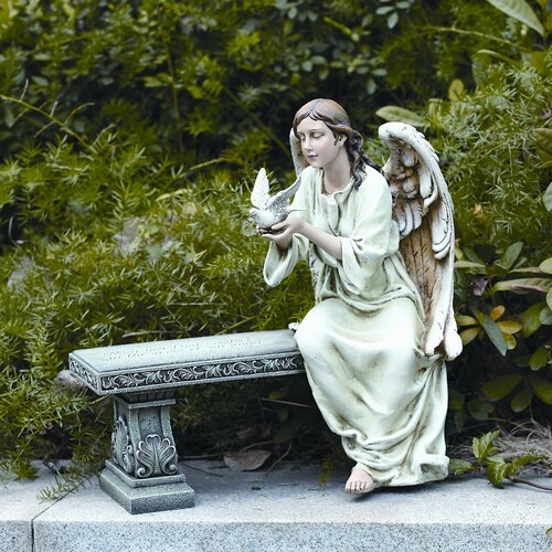 Roman, Inc. Memorial Angel Seated Statue