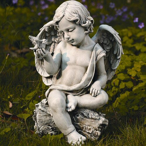 Roman, Inc. Cherub with Dove Statue