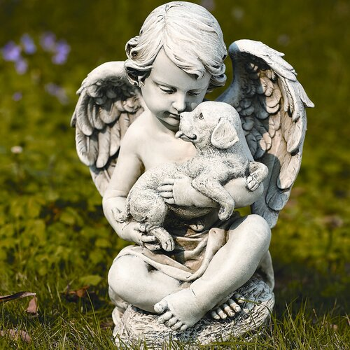 Roman, Inc. Cherub with Puppy Statue