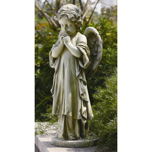 Young praying angel garden statue - Angel statue for garden ...