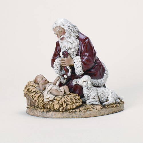Roman, Inc. Kneeling Santa Figurine