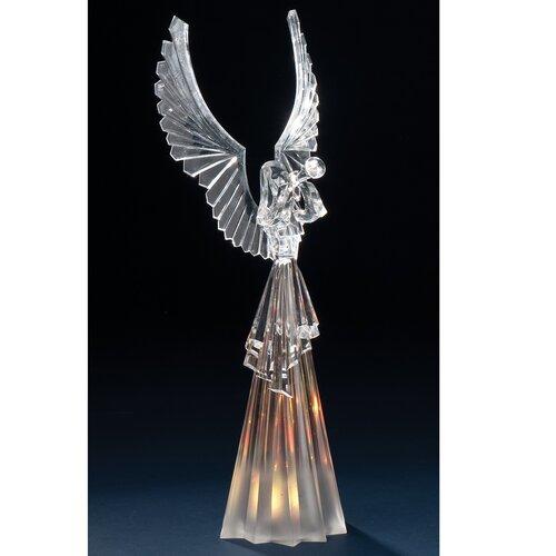 Acrylic Angel Figurine with LED Lite