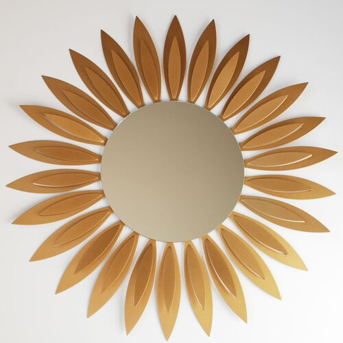 Contemporary Sunflower Wall Mirror