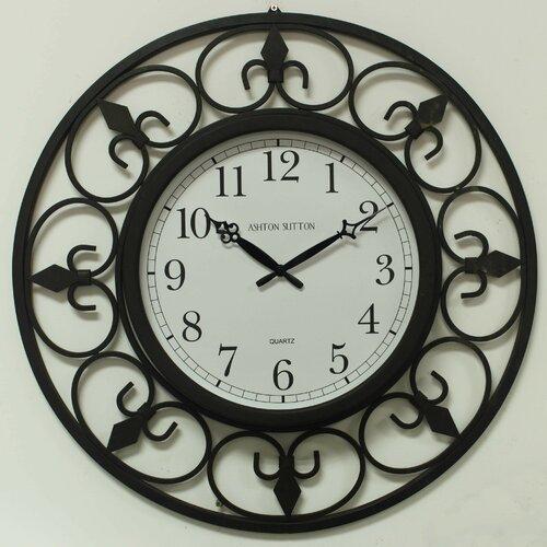 """Ashton Sutton Indoor/Outdoor Oversized 24"""" Wall Clock"""