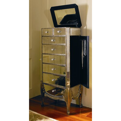 bassett mirror collette jewelry armoire with mirror