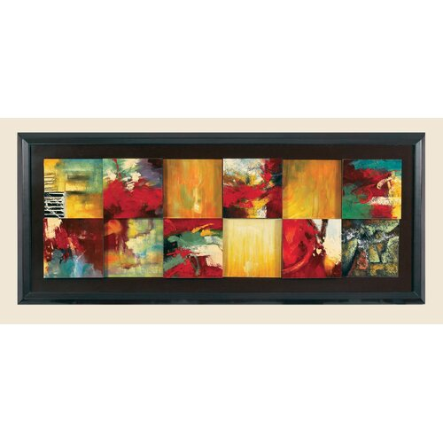 Bassett Mirror Red Abstract Original Painting on Canvas