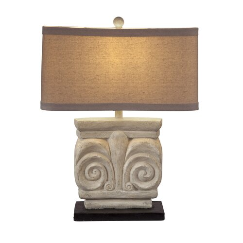 """Bassett Mirror Parthenon 28"""" H Table Lamp with Drum Shade"""