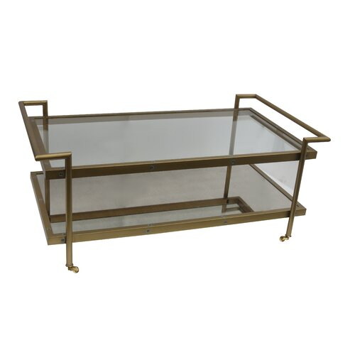 Fouquet coffee table wayfair for Wayfair mirrored coffee table