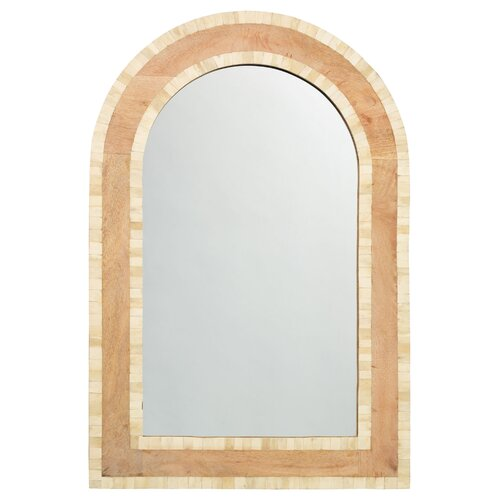 White Bone and Natural Wood Royal Palace Mirror