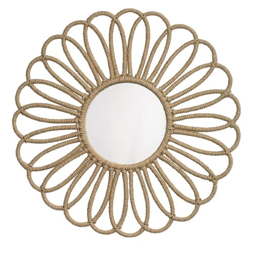 Jamie Young Company Jute Flower Mirror
