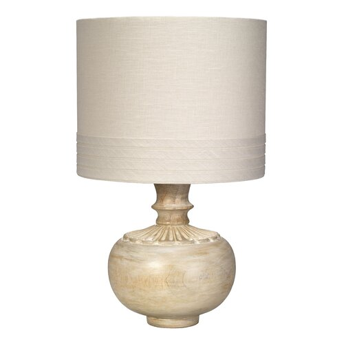 lotus 18 5 h table lamp with drum shade wayfair. Black Bedroom Furniture Sets. Home Design Ideas