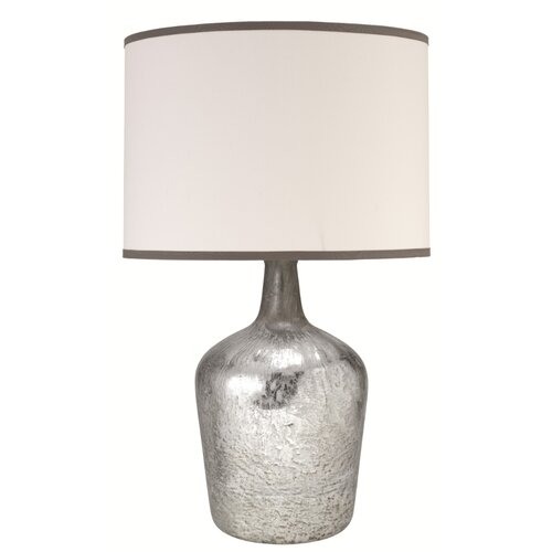"""Jamie Young Company Textured Mercury MD Jar 27.5"""" H Table Lamp with Drum Shade"""