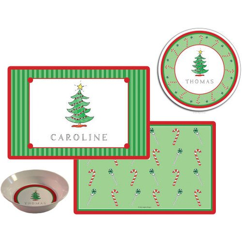 The Kids Tabletop Christmas Tree Place Setting (Set of 3)