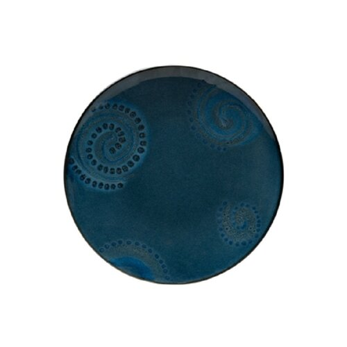 "Red Vanilla Organic Blue 11.25"" Dinner Plate"