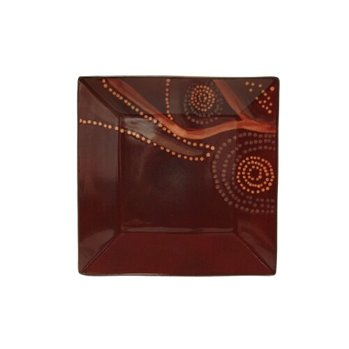 "Red Vanilla Organic Brown 10.5"" Square Dinner Plate"