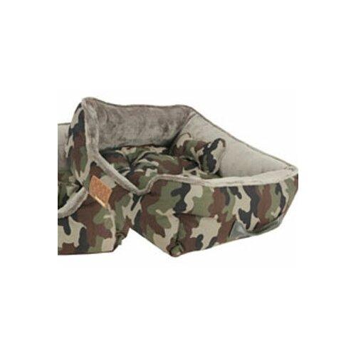 Battlefield II Reversible Camoflague Bolster Dog Bed