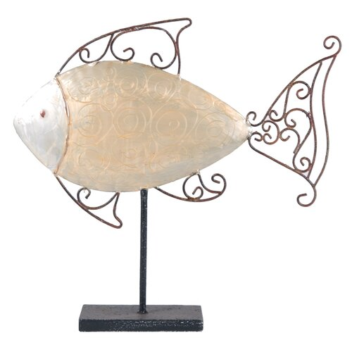 Fish Table Decor Statue