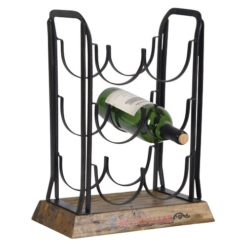 Wilco 6 Bottle Tabletop Wine Rack