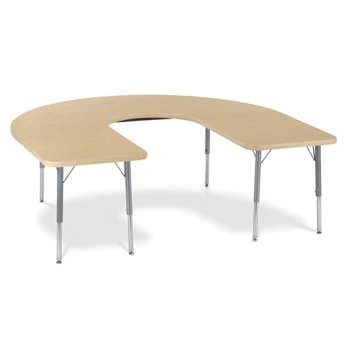 "Virco 4000 Series 66"" x 60"" Kidney Classroom Table"