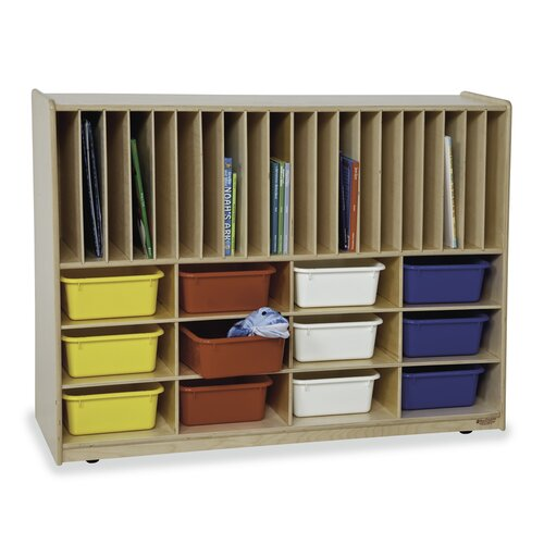 Virco Early Childhood Tip-Me-Not Portfolio Center 12 Compartment Cubby