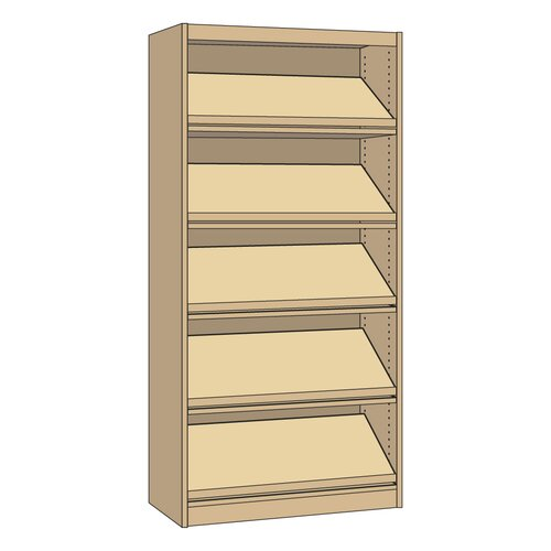 """Virco Single-faced Periodical Starter Library 82"""" Bookcase"""