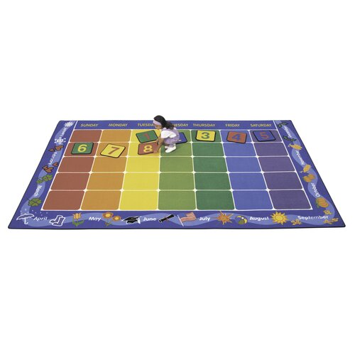 Virco Children's Calendar Area Rug