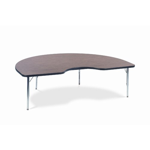 "Virco 4000 Series Activity Table with 72"" Kidney Shaped Top"
