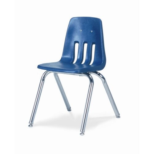 "Virco 9000 Series 16"" Polyethylene Classroom Glides Chair"