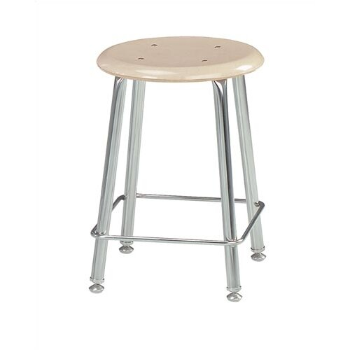Virco Height Adjustable Stool with Saddle Seat