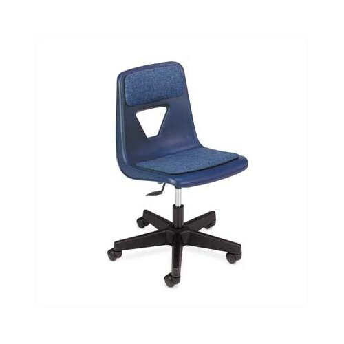 "Virco 2000 Series 20.25"" Polyurethane Classroom Padded Mobile Chair"