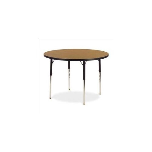 "Virco 4000 Series 60"" Round Activity Table with Fully Chrome Short Legs"