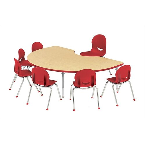 "Virco 4000 Series 72"" x 48"" Kidney Classroom Table"