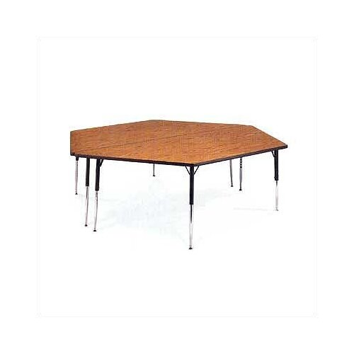 "Virco 4000 Series Trapezoidal Activity Table with Fully Chrome Legs (24"" x 48"")"
