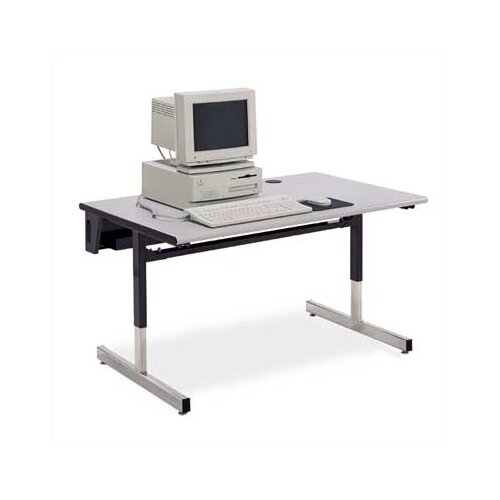 "Virco Future Access 48"" W x 24"" D Half Round Computer Table"