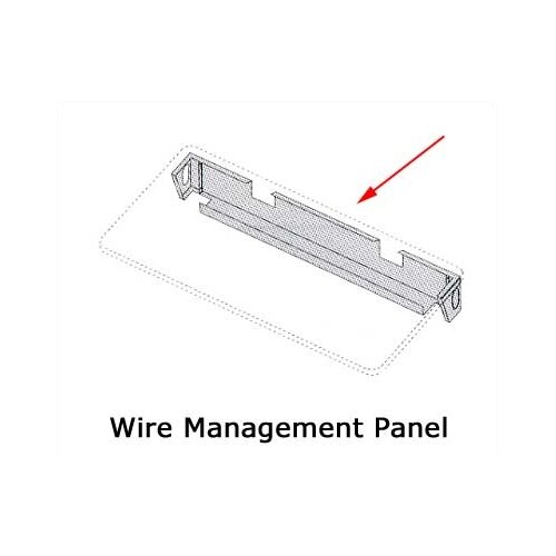 "Virco Wire Mgmt. Panel for 36"" W Rectangle / 48"" Trapezoid"