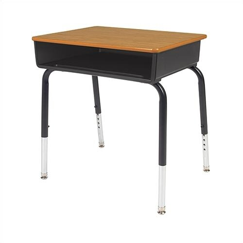 Virco Laminate Student Desk with Open Front Plastic Box