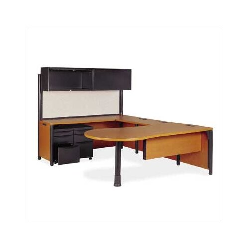 Virco Plateau Series U-Shape Executive Desk Office Suite