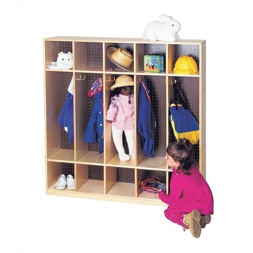 "Virco 5-Section Locker (48"" x 48"")"