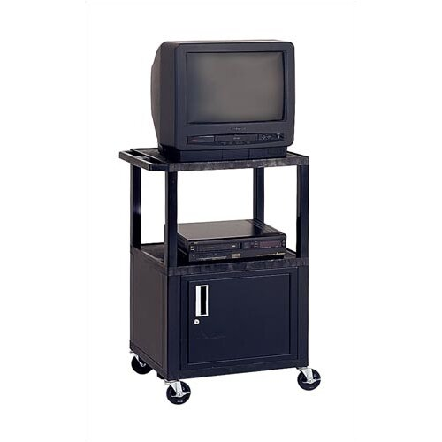 Virco Adjustable Height Audio Visual Cart with Cabinet