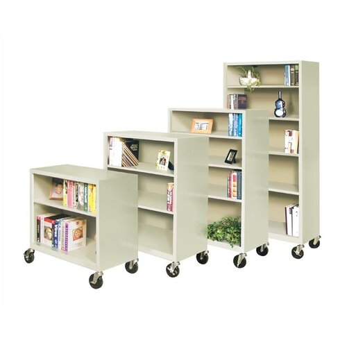 "Virco 58"" H Mobile Four Shelf Bookcase"
