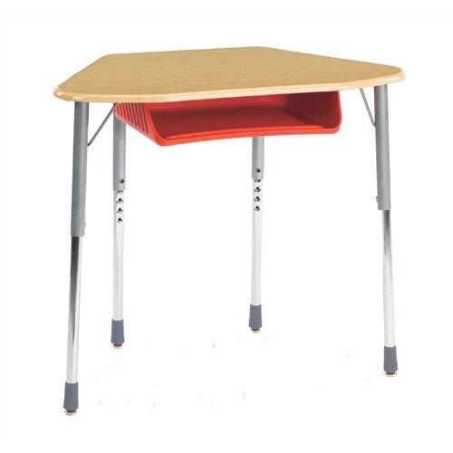 Virco Zuma Plastic Trapezoid Desk