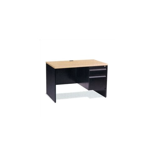 Virco Single Pedestal Computer Desk with Box/File Drawer